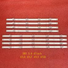 8 adet LED arka ışık şeridi için 47LF5610 47LB580V 47LB5610 47LB580V 47LB5600 47LB5850 47LY540S 47LB6000 47LB5900 47LB5900