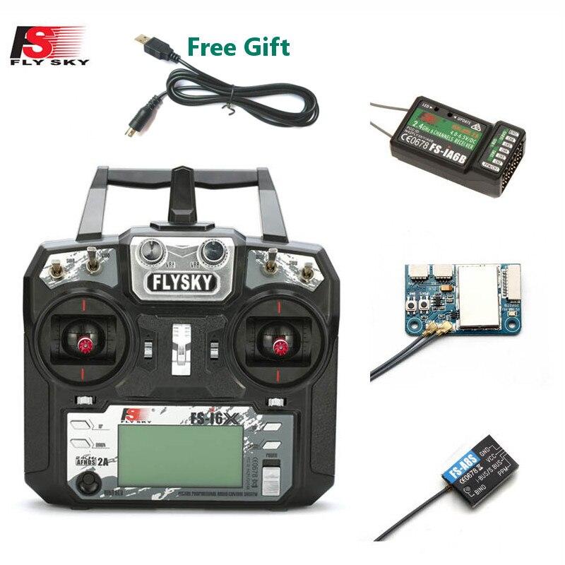 FLYSKY FS-i6X i6X 10CH 2,4 GHz AFHDS 2A RC передатчик с X6B iA6B A8S приемник для RC Qaud FPV Racing Drone Retailbox