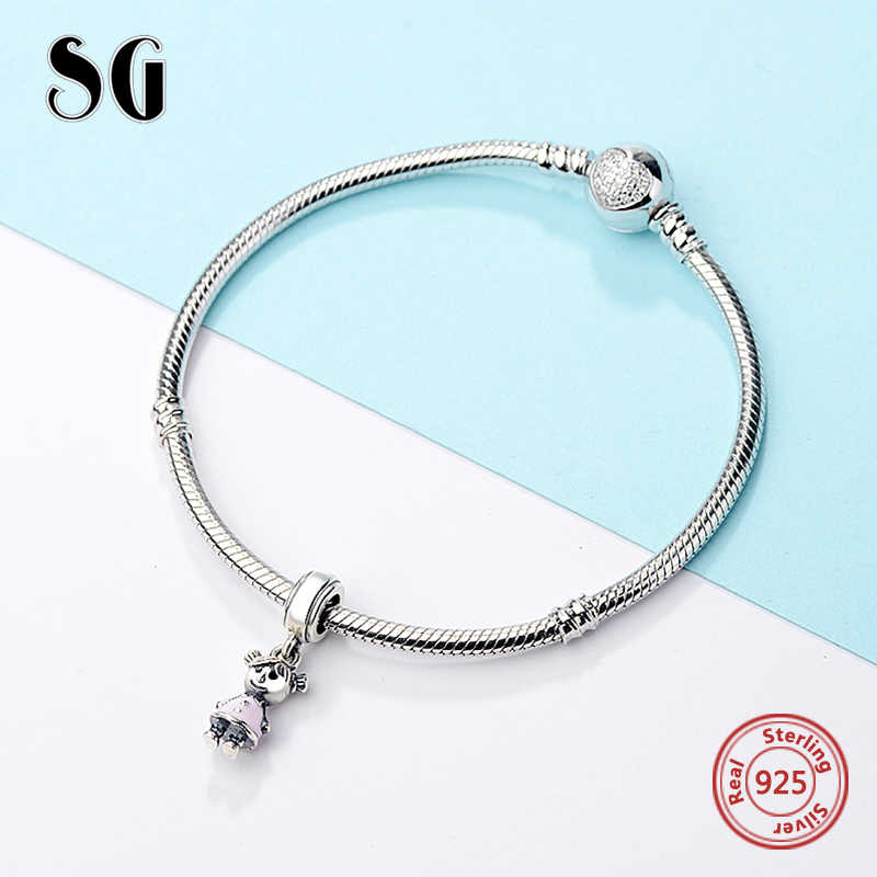 SG fashion designer christmas necklace charms silver 925  original for mom daughter charm pendant bracelet jewelry making 2020
