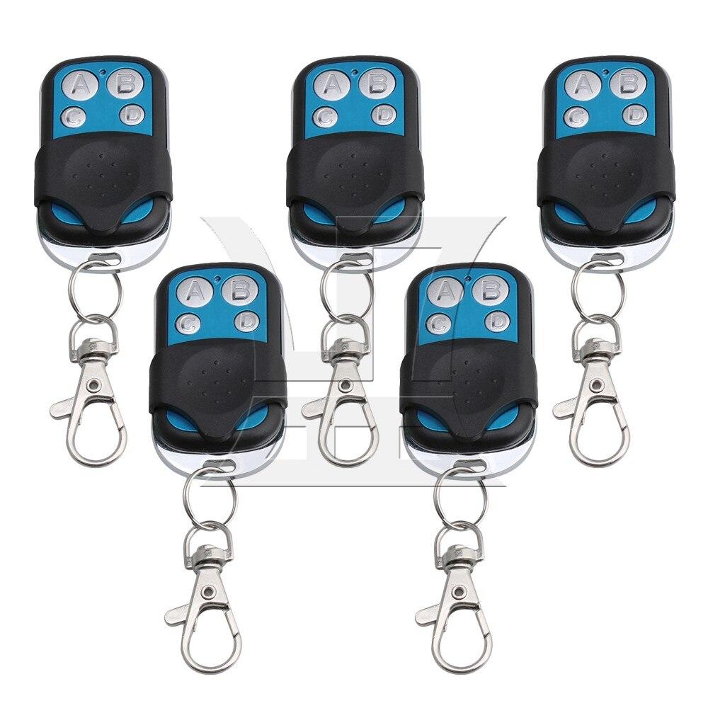 BQLZR 5PCS 4CH 433MHz RF Garage Wireless Remote Control Learn Code 1527 Chip