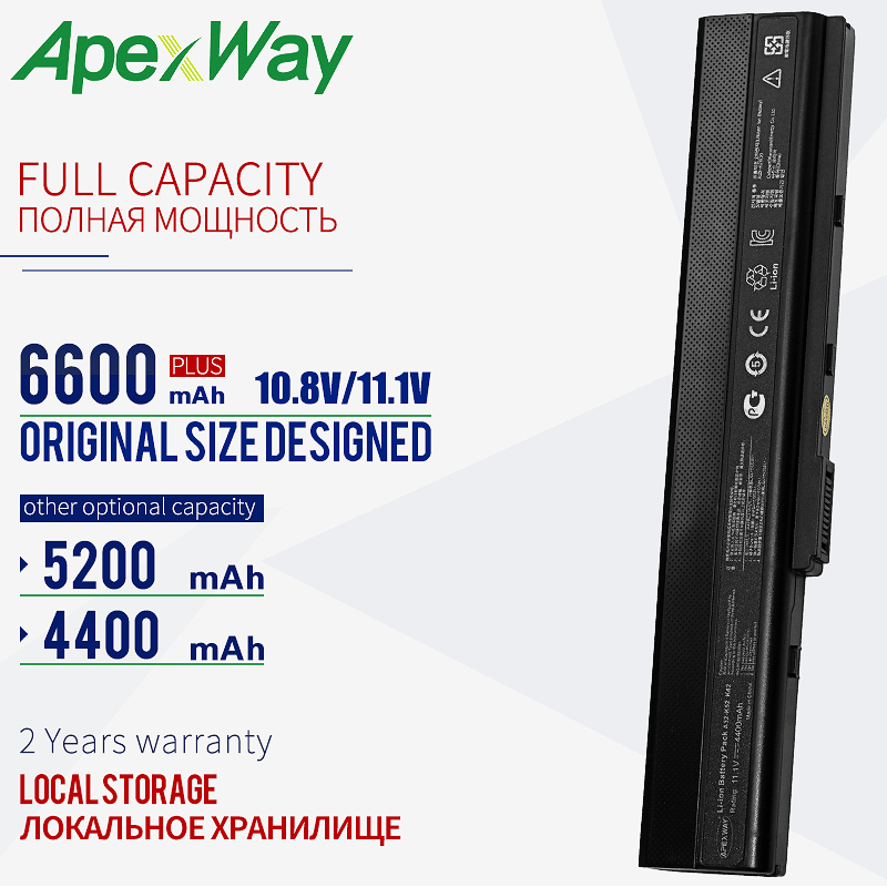 11.1V laptop battery for Asus A32 K52 A31 K52 K52F A52F A52J K52 K52D K52JC K52JE X52JC X52JE X52JG X52F X52J K52J-in Laptop Batteries from Computer & Office on