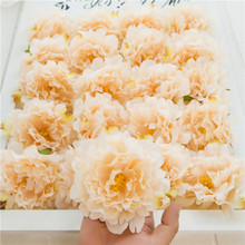 20pcs/lot Artificial Peony Flower Head Wedding Party Christmas Decoration DIY Silk Flower Wall Background Decor Accessories