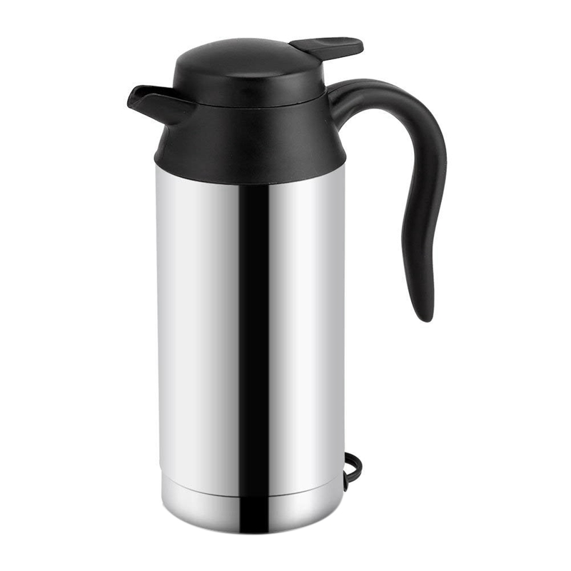 DC12V/24V Portable Car Electric Kettle Travel Car Cigarette Lighter Hot Water Kettle Fast Boiling For Tea Coffee 750ml