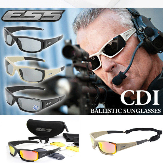 brand Original Polarized  Sunglasses Men UV400 4 Lenses Tactical Glasses  Army Goggles Ballistic Test Bullet Proof Eyewear