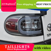 2PCS Car Styling for Toyota Fj CRUISER Taillights 2007 2014 for Fj CRUISER LED Tail Lamp