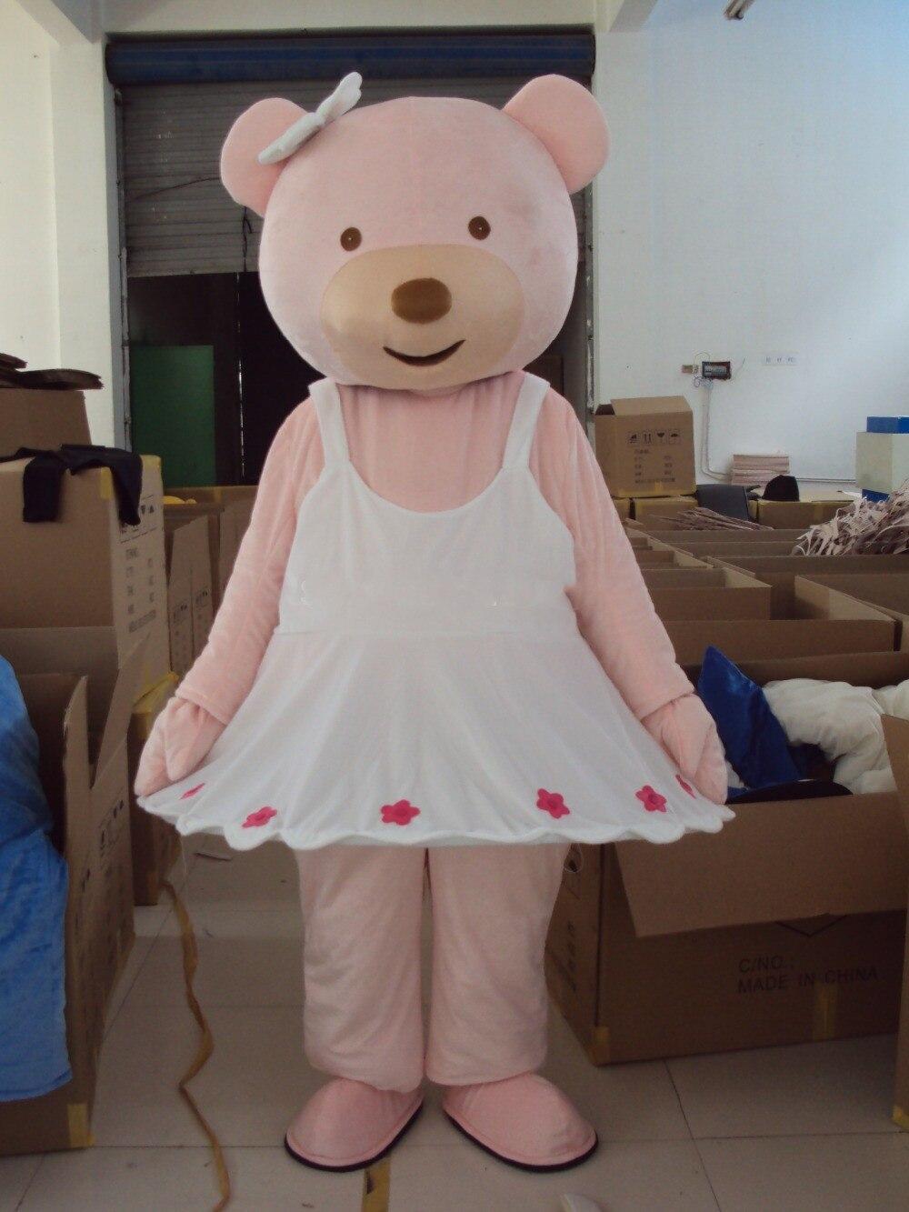 Livraison gratuite offre spéciale ours rose mascotte Costume adulte déguisements personnage mascotte costume
