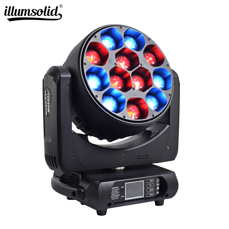12x40w RGBW Bees Eyes big eyes moving head with zoom rotating club  Show  family partie light for Stage lighting|Stage Lighting Effect| |  - title=