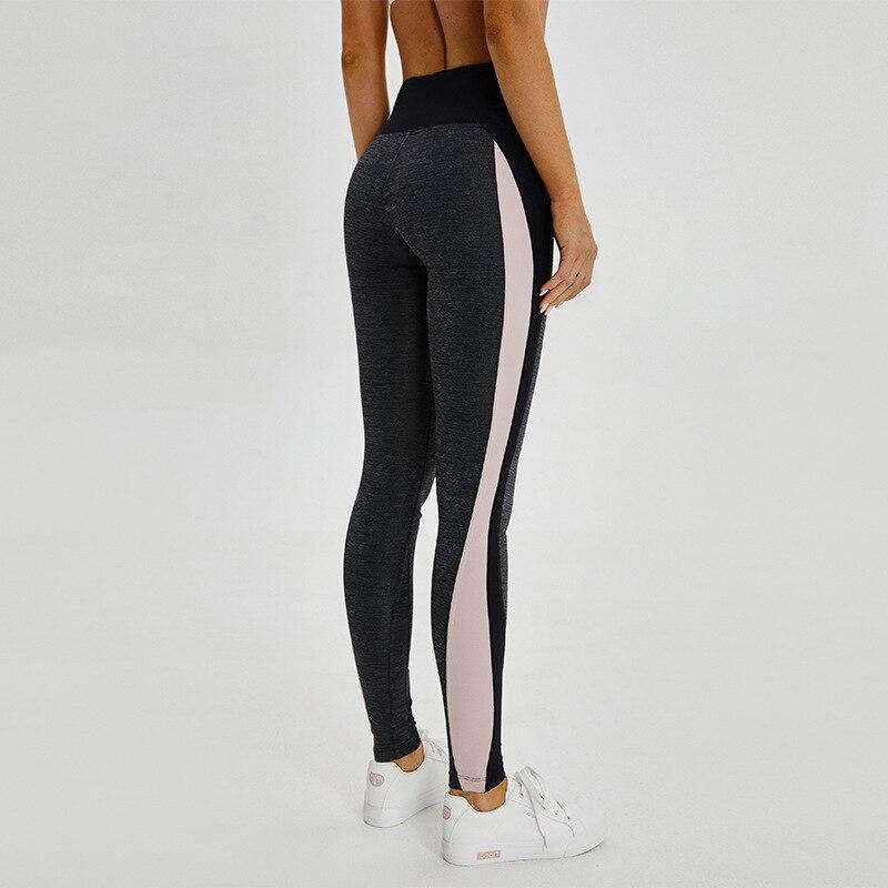 Black Patchwork Shark Gym Pants Women High Waist   Leggings   High Quality Sport Leggins Female Running Training Fitness Jeggings