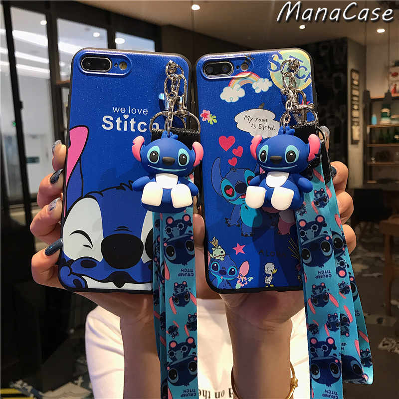 Leuke Stitch 3D Cartoon Beugel Case Voor Samsung Galaxy S8 S9 S10E Note 10 Plus A10 A20 A30 A50 A70 a10S A20S A30S Tpu Cover