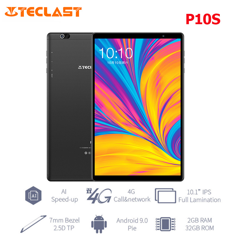 Teclast P10S 10.1'' IPS Screen 4G Phablet Android 9.0 Spreadtrum SC9863A Octa Core 2GB+32GB Phone Call Tablet PC BT5.0 6000mAh