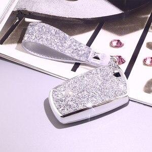 Image 5 - Luxury Diamond Car Key Cover Case For BMW 520 525 f30 f10 F18 118i 320i 1 3 5 7 Series X3 X4 M3 M4 M5 Chain for Girls Women Gift