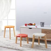 Solid Wood Children's Furniture Shoe Seat Low Stool Household Modern Simple Sitting Room Sofa Seats Nordic Coffee Table Stools