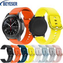 22mm silicone Replacement Watch strap new For Samsung Gear S3/Galaxy 46mm Classic smart Sports Goods Watch Band strap bracelet 20mm 22mm 26mm soft silicone sports watch band high quality replacement watch strap classic bracelet wrist band