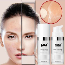 ZHENDUO Colour Changing skin tone makeup foundation liquid brightens portable concealer lasting Base