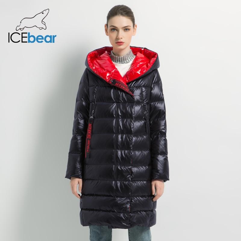 ICEbear 2019 Women's winter casual slim jacket women fashion coat High Quality New Women's  winter Coat GWD19505I icebear 2018 new autumn women coat cotton fashion ladies jacket high quality autumn jacket detachable hat brand coat gwc18038d