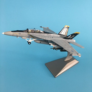 1/100 Military Model Toys F/A-18 Fighter Diecast Metal Plane Aircraft airplane Model Toy For Collectio(China)