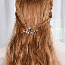 1 Pcs Fashion Boho Snake Shape Hair Clips Accessories For Women Gold Metal Modern Stylish Pins Gypsy Jewelry