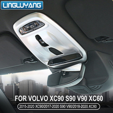 car accessories 2018 2019 2020 for Volvo xc60 roof reading light box s90 xc90 v90 s60 v60 xc40 interior accessories car sticker