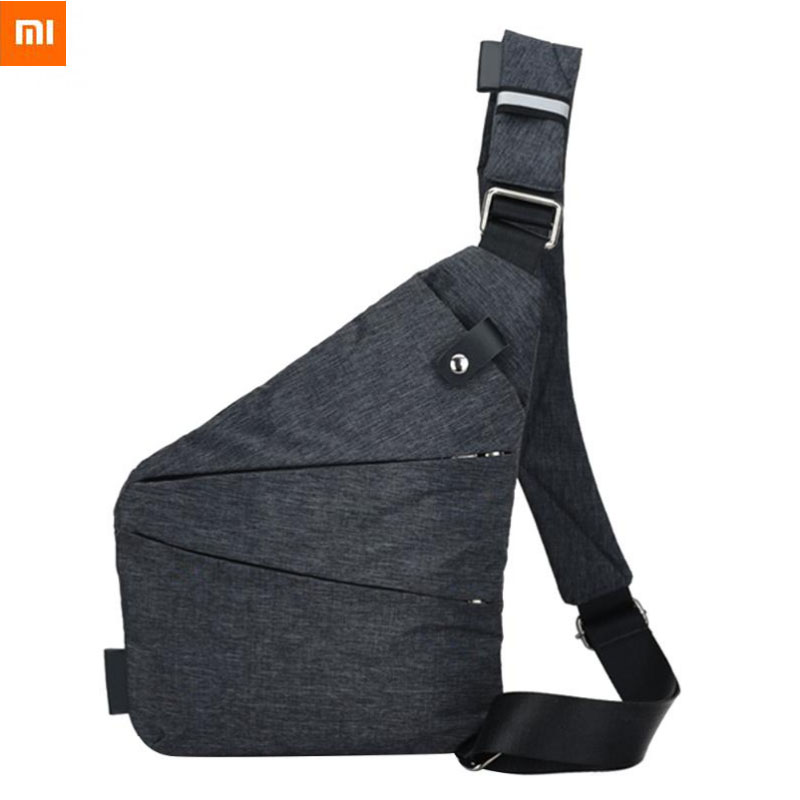Xiaomi Mi Crossbody Male Messenger Chest Sling Bag Travel Anti-Theft Shoulder Simple For Man Fishing Messenger Black Casual Bag image