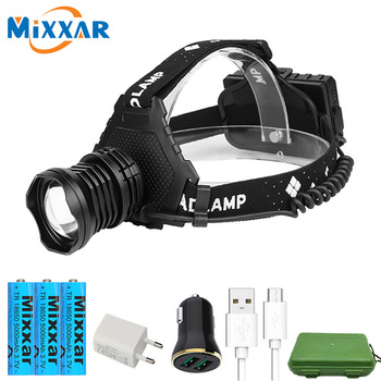 zk20 Powerful/LED/Bike Headlight/Headlamp/Torch 18650 Battery for Hunting/Fishing/Camping Lantern LED Rechargeable Waterproof