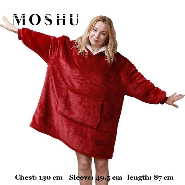 Moshu Fluffy Blanket Hoodie 1