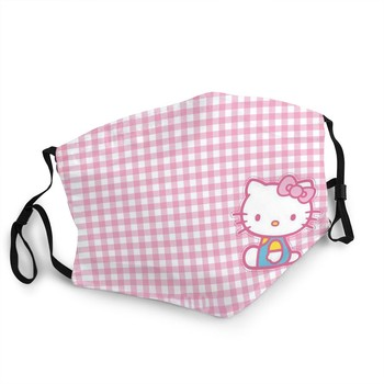 Hello Kitty Children Lovely Fabric Mask Washable Reusable Antibacterial Masque Hello Kitty keychain girl birthday party supplies недорого