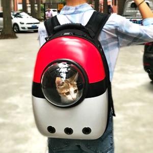Image 5 - Wysokiej jakości Transport okienny przenoszenie oddychającej torby podróżnej bańka astronauta Pet Dog kapsuła kosmiczna plecak dla kota