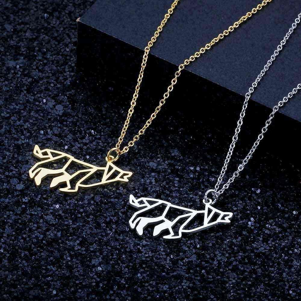 Unikalny ryk wilk naszyjnik LaVixMia włochy projekt 100% naszyjniki ze stali nierdzewnej dla kobiet Super moda biżuteria specjalny prezent