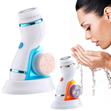Electric Face Cleansing Face Rotating Cleansing Brush Silicone USB Facial Cleansing Brush Skin Care Machine Brush Cleaner