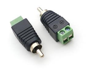 Image 5 - 1000pcs CCTV 카메라 어댑터 RCA 남성 플러그 AV 터미널 커넥터 비디오 Balun 어댑터