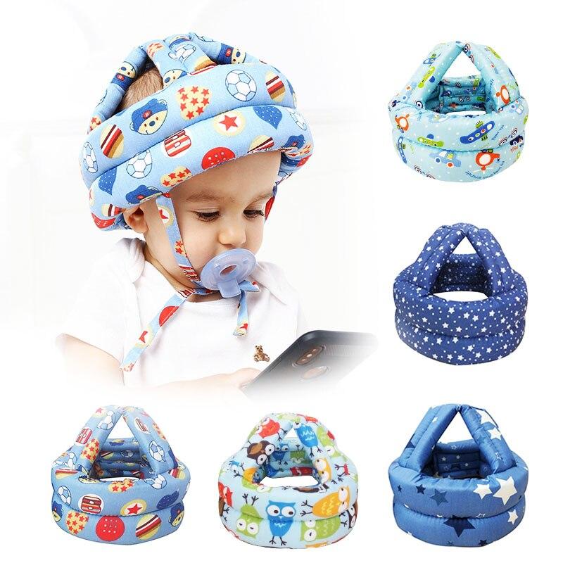 Capacete de segurança infantil para bebês, proteção macia e confortável para andar, chapéu para bebês