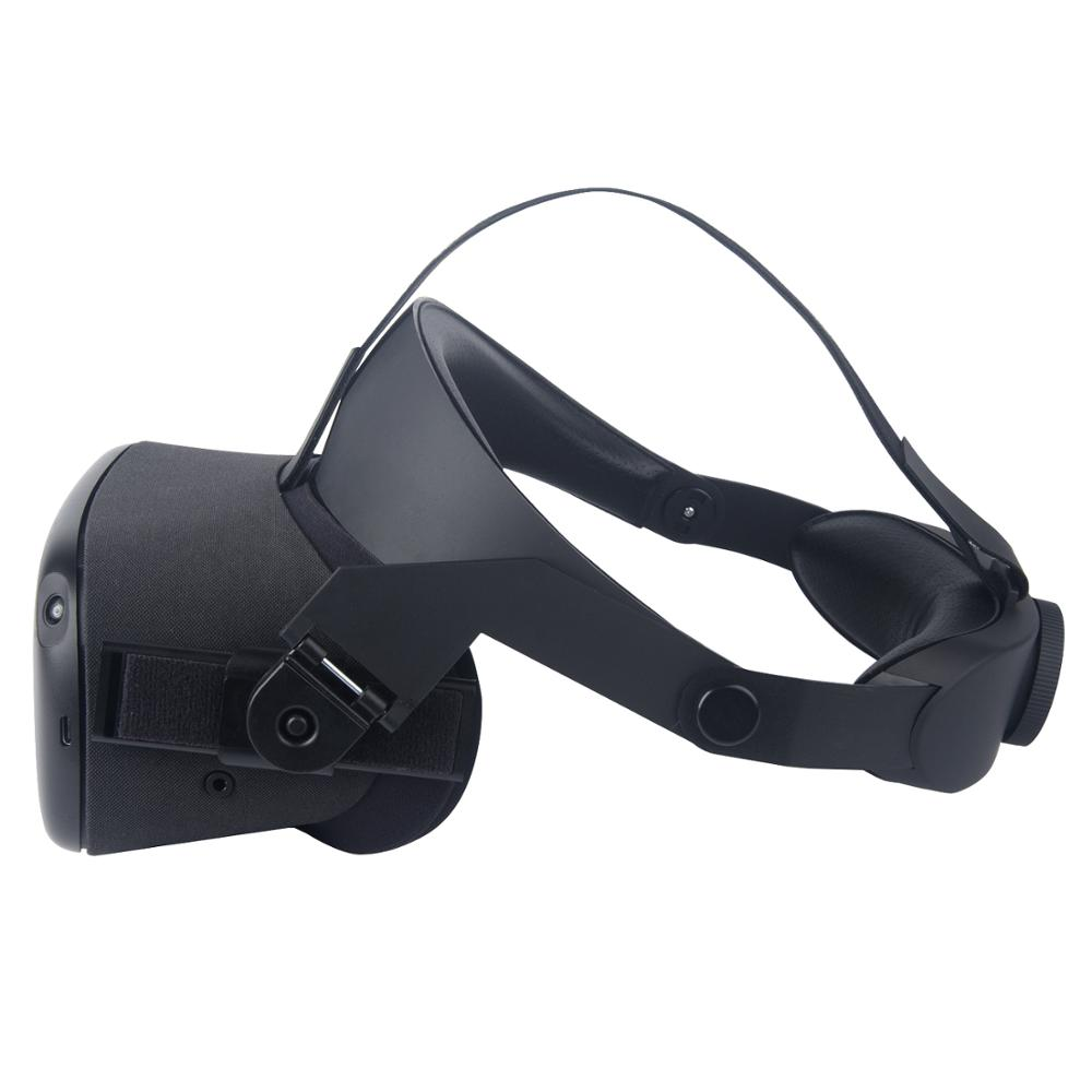 For Oculus Quest Adjustable VR Headset Headwear Pressure-relieving Non-slip VR Helmet 3D Virtual Reality Glasses 3