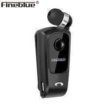 Fineblue F920 Mini Draadloze Bluetooth Oortelefoon Telescopische Type Business Oortelefoon Trilalarm Dragen Stereo Sport Oortelefoon