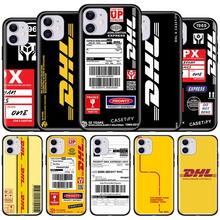 Express dhl rápido caso para apple iphone 7 8 12 11 pro max xr xs x 6s plus se 2020 preto macio tampa do telefone coque