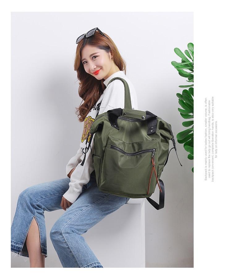 H004e9b5569784e71b1f8034d625d896c9 Casual Nylon Waterproof Backpack Women High Capacity Travel Book Bags for Teenage Girls Students Pink Satchel Mochila Bolsa 2019