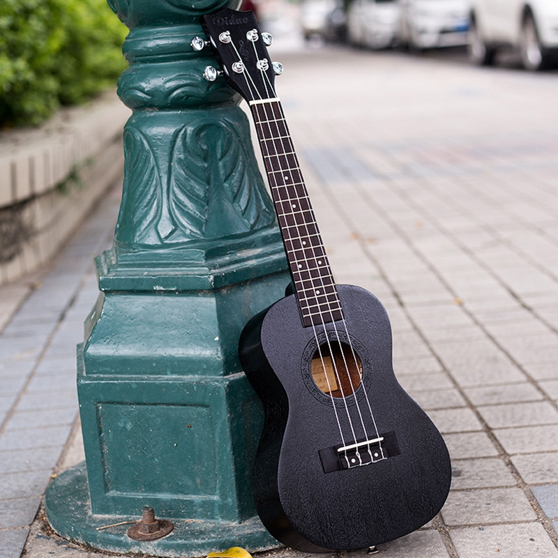 24 Inch Black Mahogany Fingerboard Concert Ukulele Sapele Wood Concert Hawaii For Beginner Mini Guitar Fretboard Stringed Instru