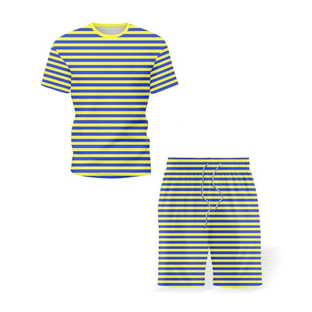 2021 Summer Men's Sportswear New Trousers T-shirt Sportswear Two-piece Summer Men's Sportswear Brand Men's Wear Size 5XL 1