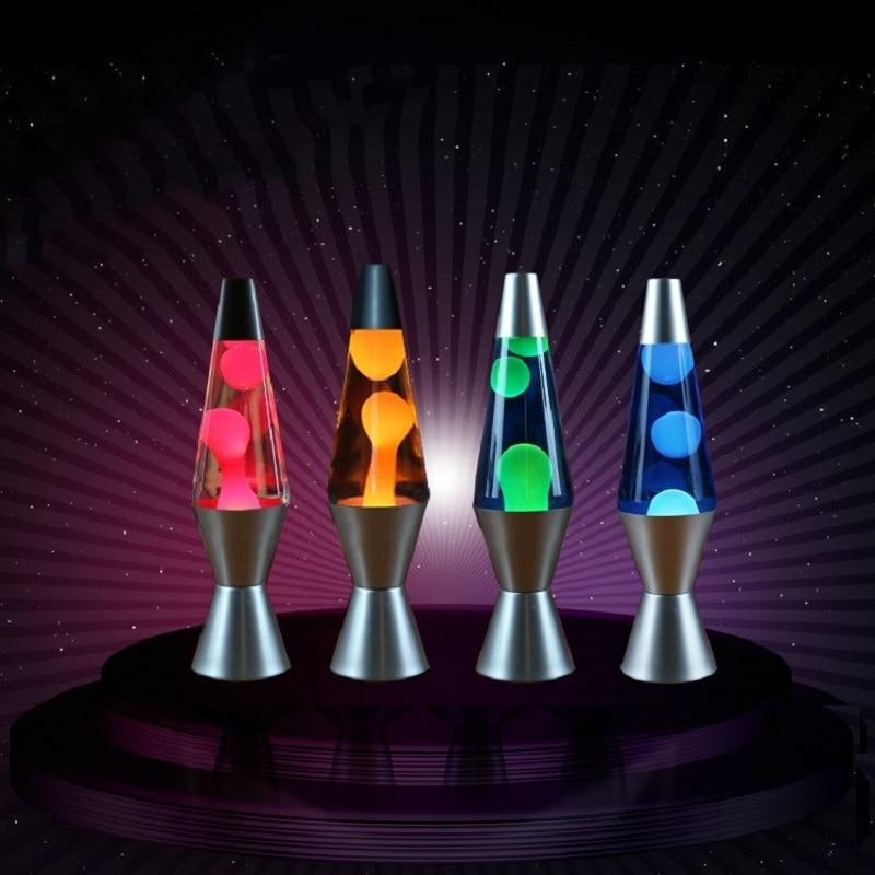 110V/220V LED Lava Lamp Jellyfish Light Bedroom Night Lights Metal Base Decor Bedside Lamp For Children Gift 25W 30W EU/US Plug