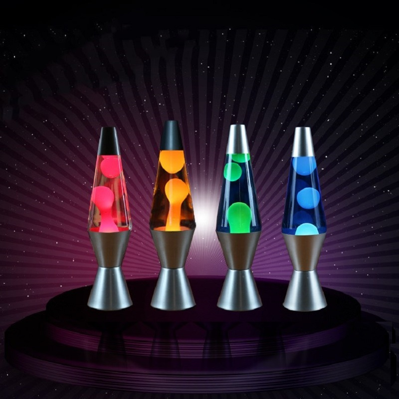110V/220V LED Lava Lamp <font><b>Jellyfish</b></font> <font><b>Light</b></font> Bedroom Night <font><b>Lights</b></font> Metal Base Decor Bedside Lamp for Children Gift 25W 30W EU/US Plug image