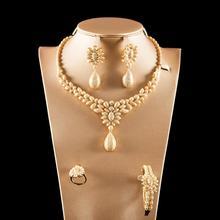 Dazz الفاخرة الملونة الزركون قلادة مستديرة قلادة أقراط الطوق الإسورة نيجيريا مجوهرات الزفاف مجموعة الزفاف النساء دبي مجوهرات