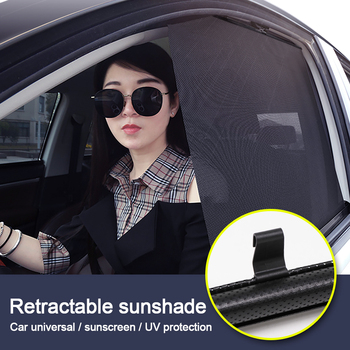 New 2020 Car Sunshade  Retractable UV Protection Cover Sun Shield Black For Vehicle Windshield Side Windows for SUV Cars - discount item  20% OFF Exterior Accessories