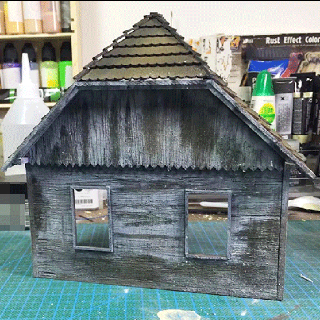 1:35 Wooden Ruin European House Military Scene War Game Sand Table Model Accessories Unpainted