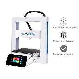 JGAURORA 3d drukarki A3S DIY zestaw metalowa rama pół godziny montażu żarnika wyczerpać wykrywania wznowić druku 3D Impressora