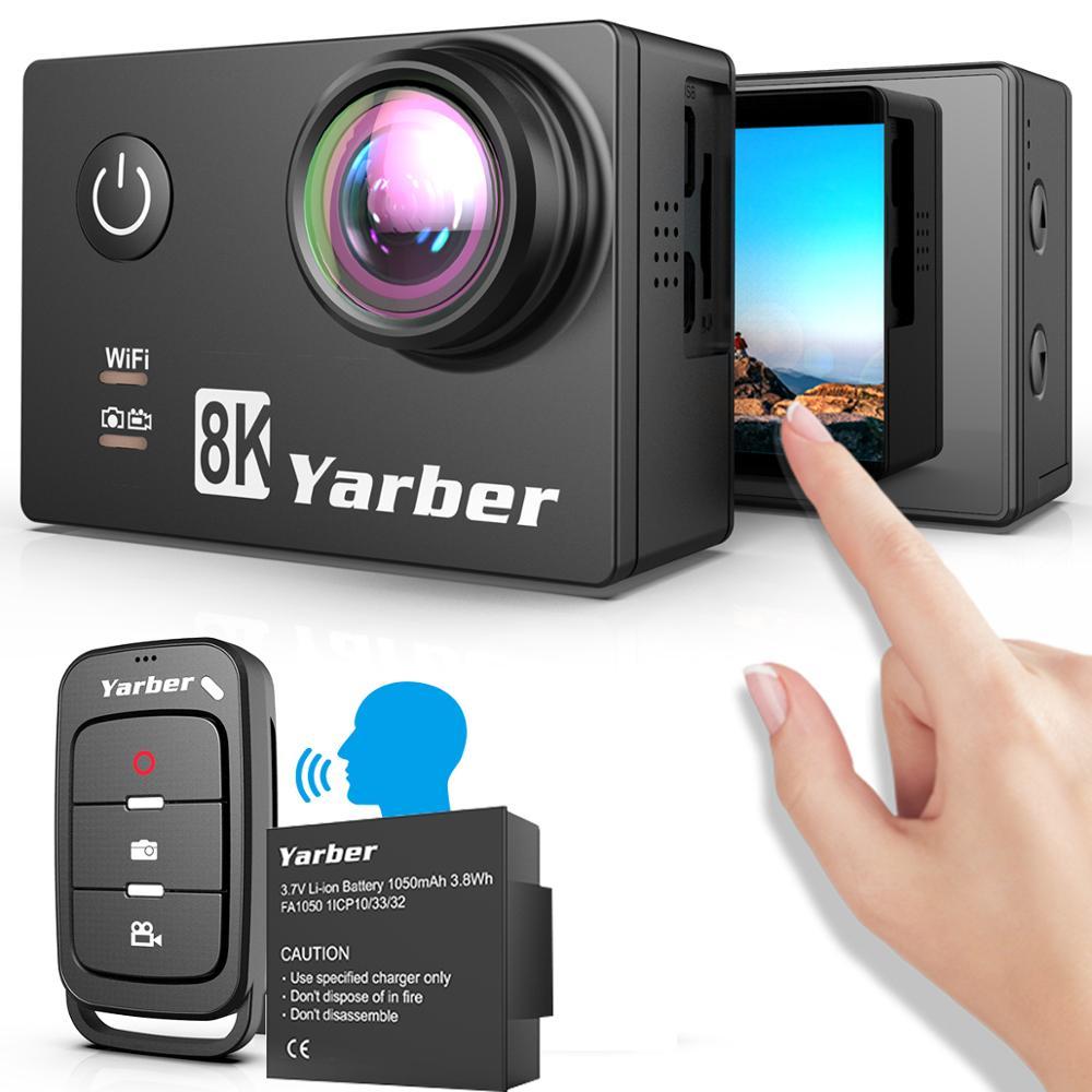 8K WIFI caméra d'action 4K 60fps 20MP HD 40M étanche Action Cam APP télécommande moto casque sport caméra vidéo