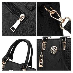 Image 4 - ใหม่เย็บปักถักร้อยไหล่กระเป๋าแฟชั่นสีMessengerหญิงTotes Crossbodyกระเป๋าผู้หญิงหนังกระเป๋าถือ