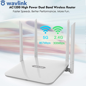 Image 1 - Wavlink 고출력 듀얼 밴드 ac1200 무선 라우터 wifi 익스텐더 4 * 5dbi 고 이득 안테나 넓은 범위 wps 쉬운 설정