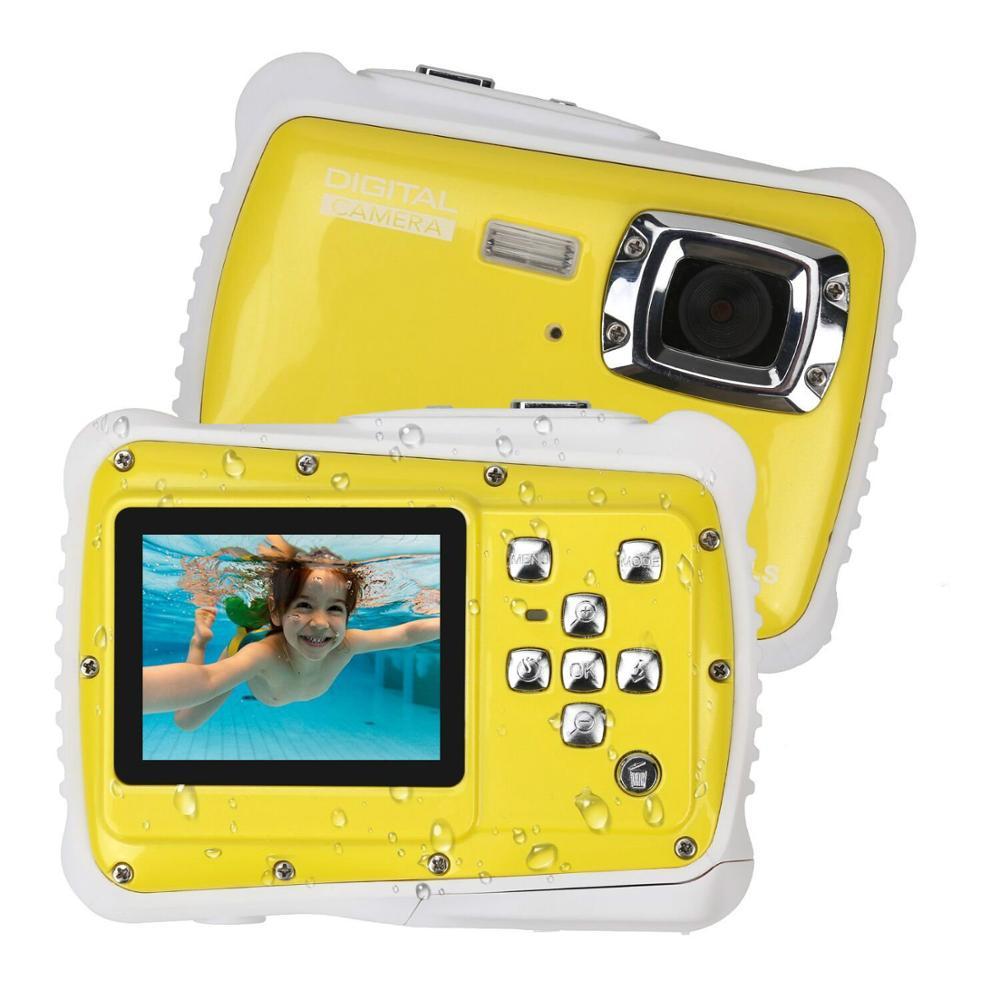 Mini caméra numérique pour enfants 2.0 pouces 5MP 4X Zoom numérique étanche 3M Full HD sous-marine enfants caméra jouets