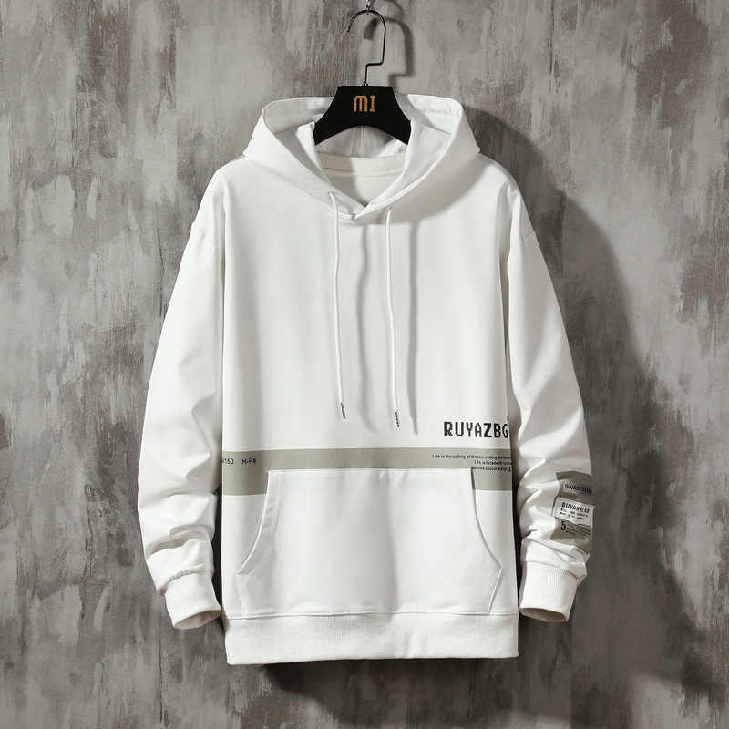 2020 Leesbaar Lente Herfst Mannen Patchwork Hooded Hiphop Hoodies Mannen Casual Mode Sweater Mannen Hoodie Mannelijke 4XL 5XL