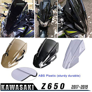 for Kawasaki Z650 Z-650 2017 2018 2019 Double Bubble Windscreen Windshield Shield Screen Visor Parabrisa with Bracket Motorcycle(China)