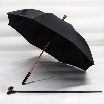 Factory Direct Selling Multi-functional Anti-slip Walking Stick for the Elderly All-Weather Umbrella Outdoor Sunshade Straight H